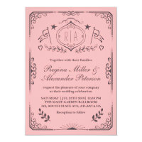 Swirl Curl Victorian Vintage Wedding Invitation