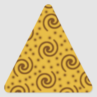 Swirl Design in mustard yellow and brown. Stickers