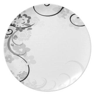 swirl design plate