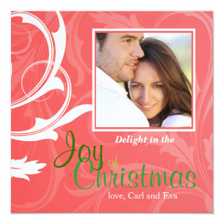 Swirl Envy - Photo Holiday Card