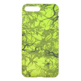 swirl flowers  and lines on green background iPhone 8 plus/7 plus case
