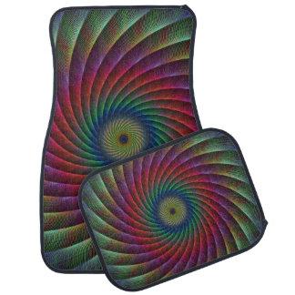 Swirl fractal car mat
