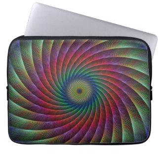 Swirl fractal laptop computer sleeves