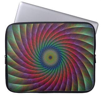 Swirl fractal laptop sleeve