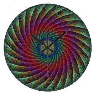 Swirl fractal large clock