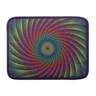 Swirl fractal MacBook air sleeves