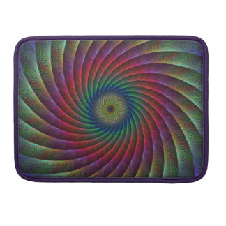 Swirl fractal MacBook pro sleeve