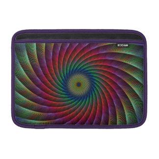 Swirl fractal MacBook sleeves