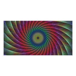 Swirl fractal photo card
