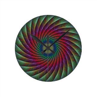 Swirl fractal round clock
