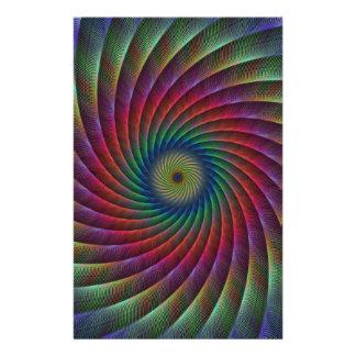 Swirl fractal stationery