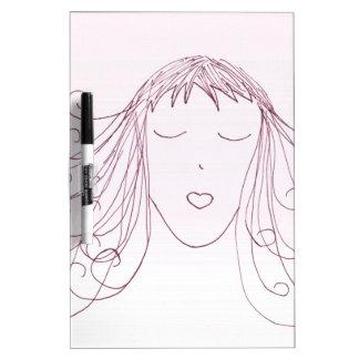 Swirl Girl Dry Erase White Board