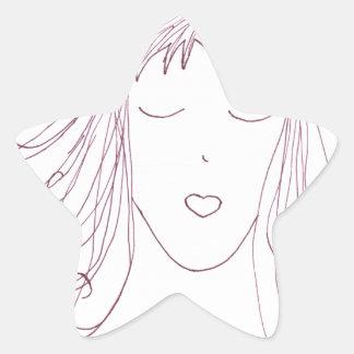Swirl Girl Star Sticker
