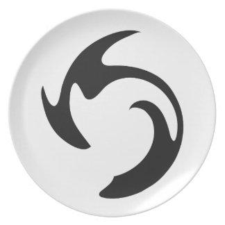 Swirl Graffiti Dinner Plate