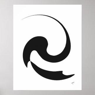 Swirl Graffiti Poster