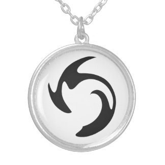 Swirl Graffiti Silver Plated Necklace