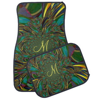 Swirl Grassland Monogram Car Mats Front Set Floor Mat
