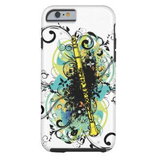 Swirl Grunge Clarinet Tough iPhone 6 Case