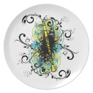 Swirl Grunge Clarinet Plate