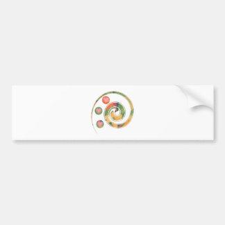 swirl heart bumper sticker