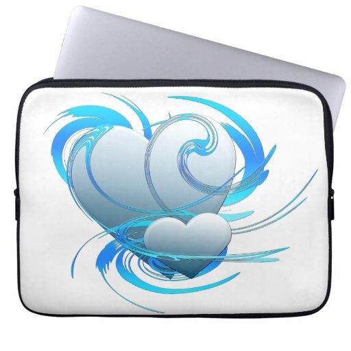 Swirl Hearts Laptop Sleeve