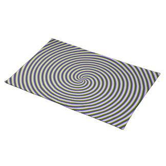 Swirl in Green Blue and Violet Cloth Place Mat