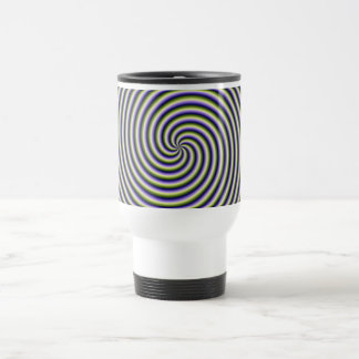 Swirl in Green Blue and Violet Travel Mug