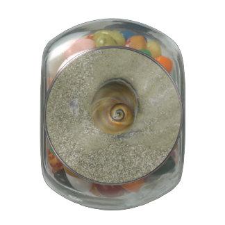 Swirl in the Sand Glass Jars