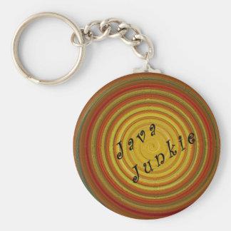 Swirl Java Junkie Key Chain