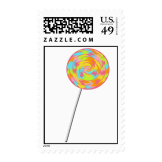 Swirl Lollipop Candy Postage Stamps