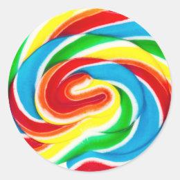 swirl lollipop candy sticker