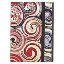 Swirl Me Pretty Colorful Red Blue Pink Pattern iPad Covers