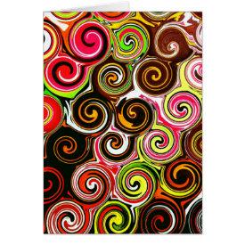 Swirl Me Pretty Colorful Swirls Pattern Card