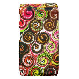 Swirl Me Pretty Colorful Swirls Pattern Droid RAZR Case