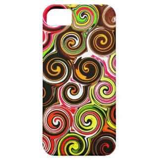 Swirl Me Pretty Colorful Swirls Pattern iPhone 5 Cover