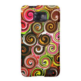 Swirl Me Pretty Colorful Swirls Pattern Samsung Galaxy SII Covers
