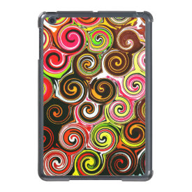 Swirl Me Pretty Colorful Swirls Pattern iPad Mini Cover