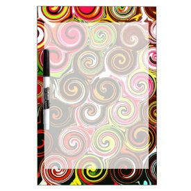 Swirl Me Pretty Colorful Swirls Pattern Dry-Erase Boards