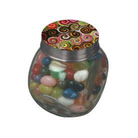 Swirl Me Pretty Colorful Swirls Pattern Glass Jars