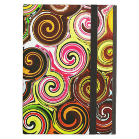 Swirl Me Pretty Colorful Swirls Pattern iPad Cover