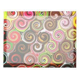 Swirl Me Pretty Colorful Swirls Pattern Notepads