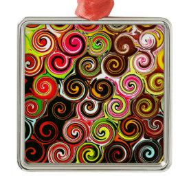 Swirl Me Pretty Colorful Swirls Pattern Christmas Tree Ornament