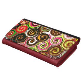 Swirl Me Pretty Colorful Swirls Pattern Wallets