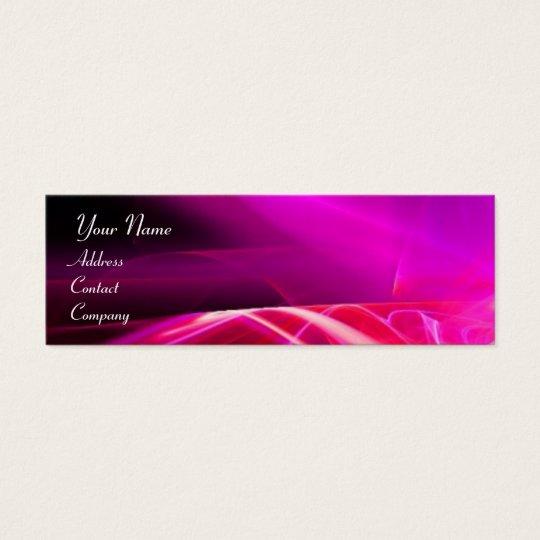SWIRL  MONOGRAM Vibrant black pink  violet Mini Business Card