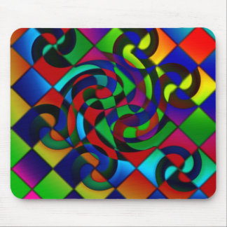 Swirl Number 7 Mouse Pad
