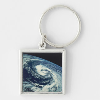 Swirl of Clouds over the Earth Keychain