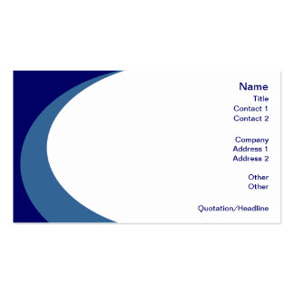 Swirl of Color - Blue Stock Business Cards