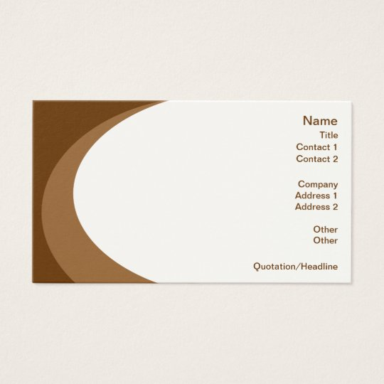 Swirl of Color - Brown Stock Business Cards