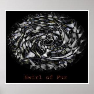 Swirl of Fur Poster
