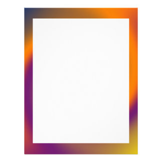 swirl orange purple letterhead
